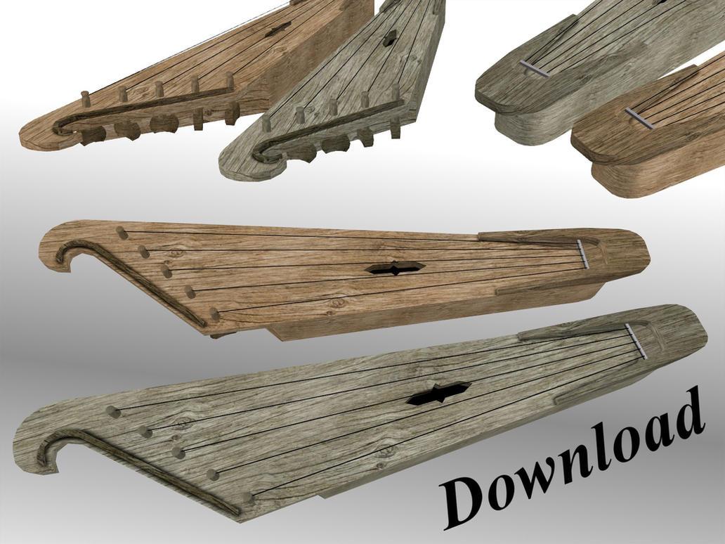 MMD Five String Kantele Download By Wampa842