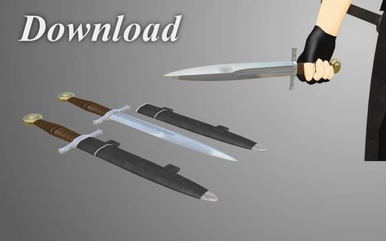 [MMD] Sword-hilt dagger [download]