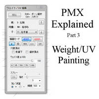 PMX Explained - Part 3: Weight and UV painting by Wampa842