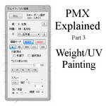PMX Explained - Part 3: Weight and UV painting
