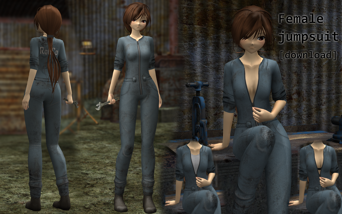 Mmd Female Jumpsuit Download By Wampa842 On Deviantart