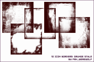 Icon Grunge Borders by frk-werewolf