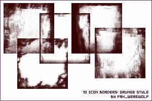 Icon Grunge Borders by frk-werewolf