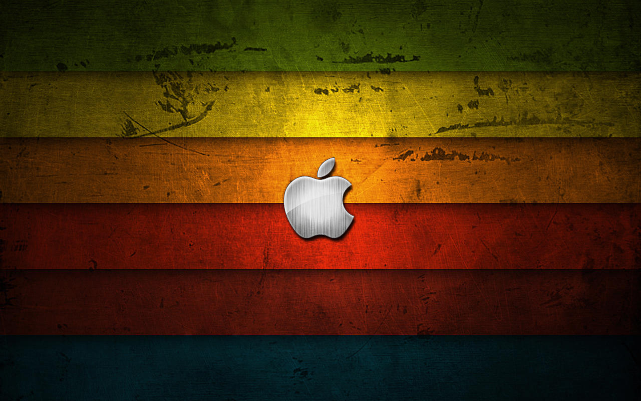 Apple Retro Walpaper by SubDooM
