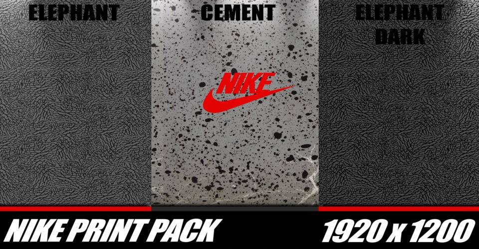 Elephant Print Wallpaper Nike print pack by bpm81