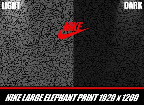 Large Nike Elephant Print