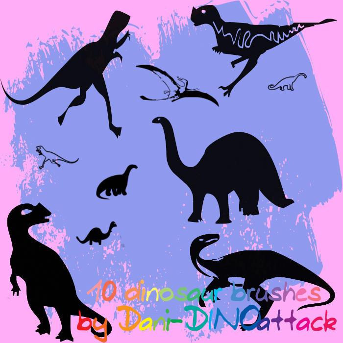 10 cute Dinosaur brushes by Dani-DINOattack