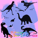 10 cute Dinosaur brushes