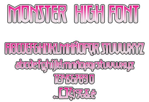 Monster High Font V.2