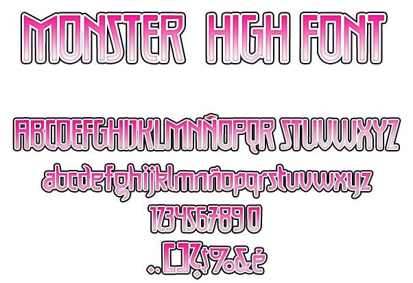 Monster High Font V.2 by HakureiKai