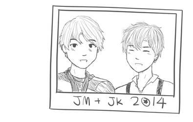JiKook Over The Years - Animation by silja-kai