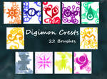 Digimon Crests Photoshop Brushes UPDATED