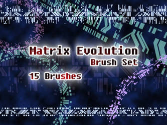 Digimon Tamers - Matrix Evolution Brush Set by NelaNequin