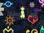 Digimon Crests - Stamp Set