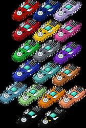 Digimon Xros Wars Digivice - XrosLoader HD + Lines by NelaNequin