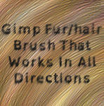 Gimp Fur/hair Brush That Works In All Directions
