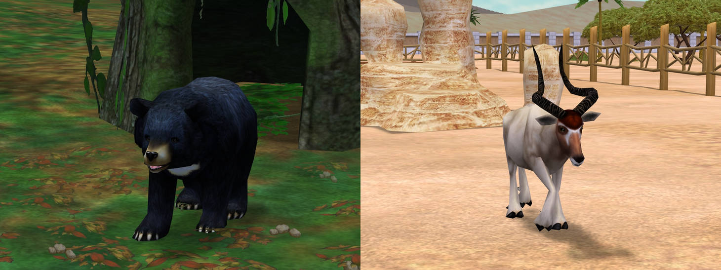 ZT2: Asiatic Black Bear and Addax Download by horse14t on DeviantArt