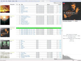 Custom foobar2000 skin with some plugins by Symphonicon