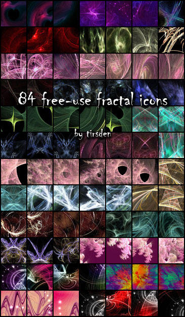 84 free-use fractal icons by tirsden