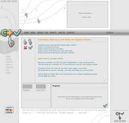 ClickTheVote White design