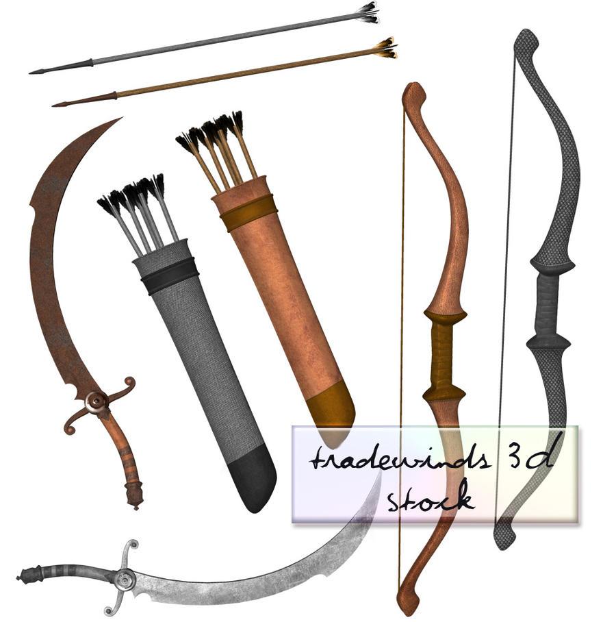 TW3D Swords and Arrows by TW3DSTOCK