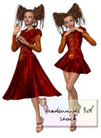 TW3D Pretty Girly Girls by TW3DSTOCK