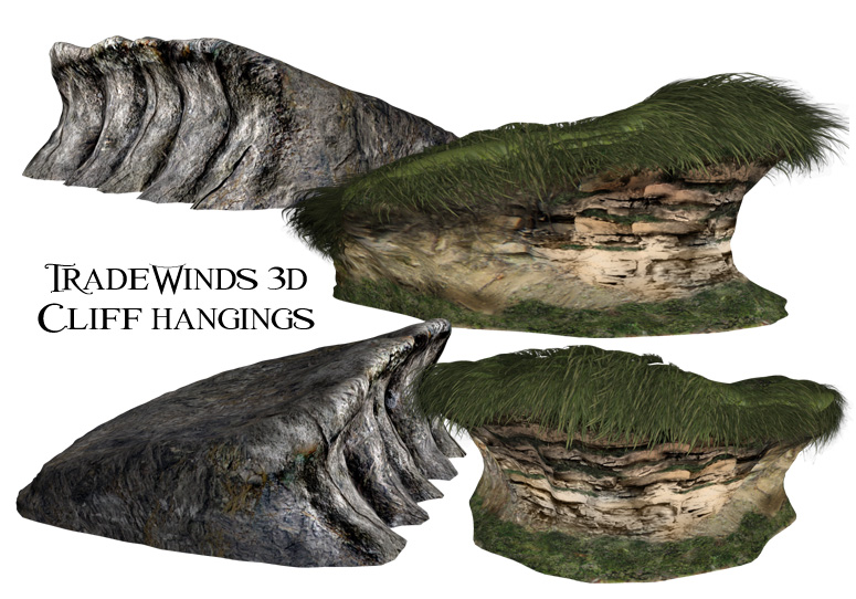 TW3D cliff with over hangings