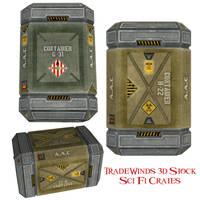 TW3D Sci Fi Crates by TW3DSTOCK