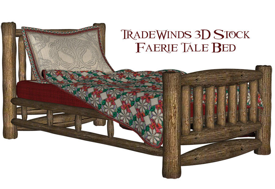 TW3D Faerie Tale bed by TW3DSTOCK