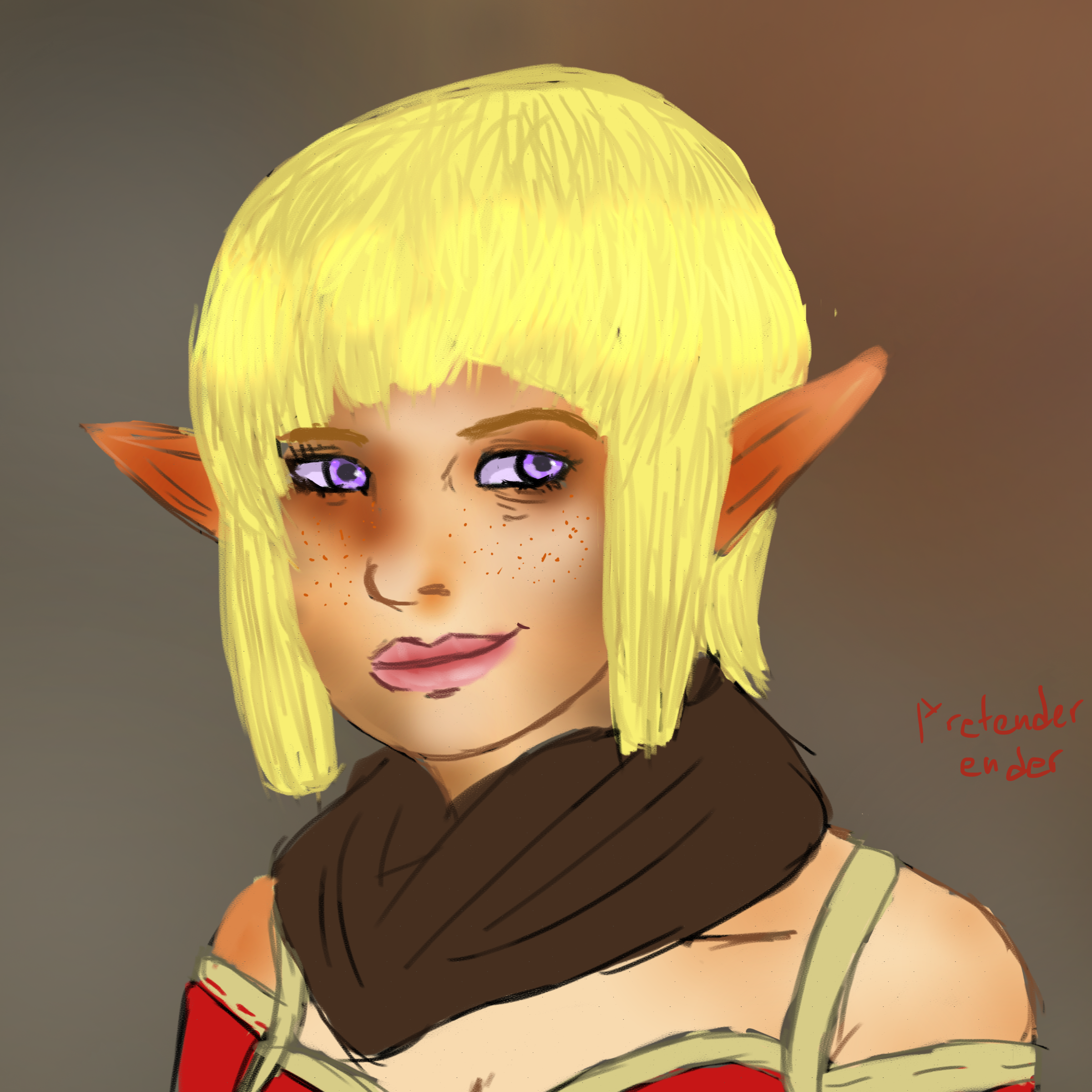 Sera Dragon Age Drawing Practice By Pretenderender On Deviantart