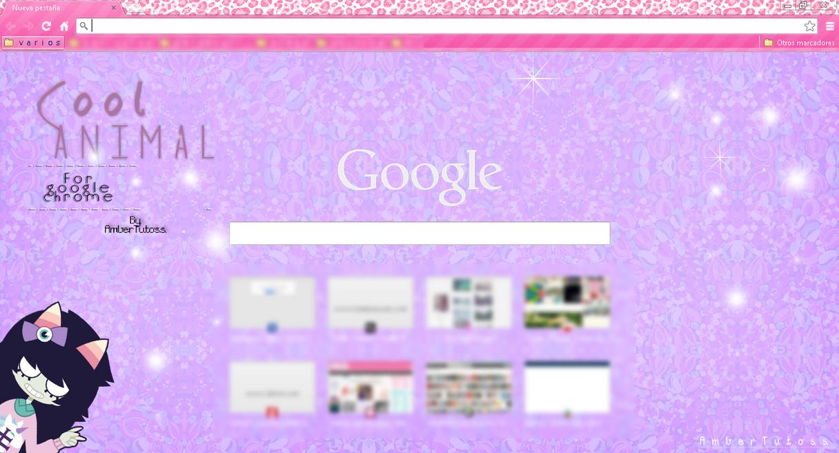 Google themes kawaii - Cool Animal Theme For Google Chrome By Waatt