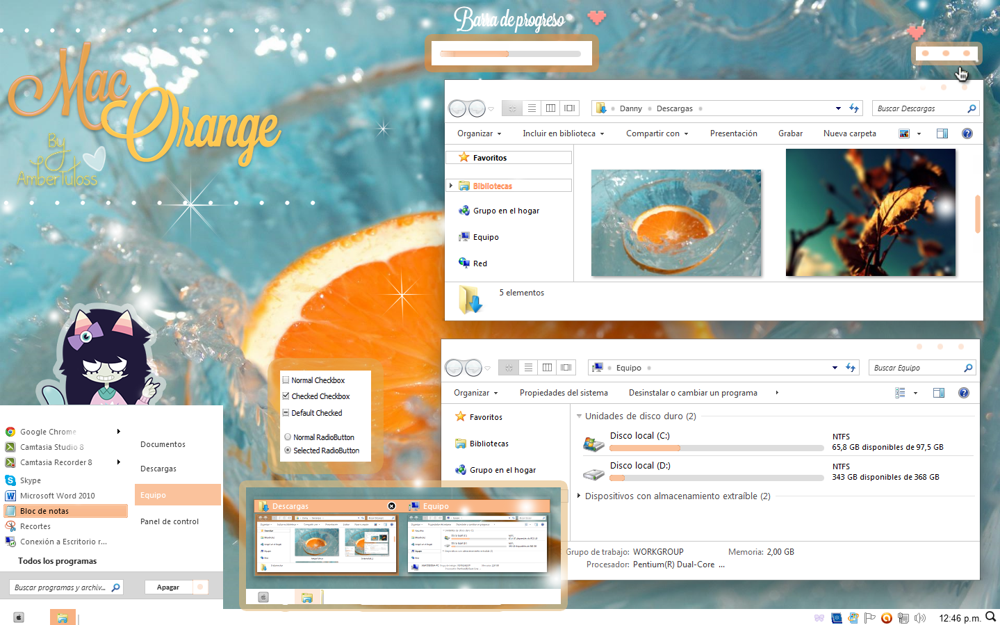 Mac orange windows 7 by waatt on deviantart - Mac dan orange les vignes ...