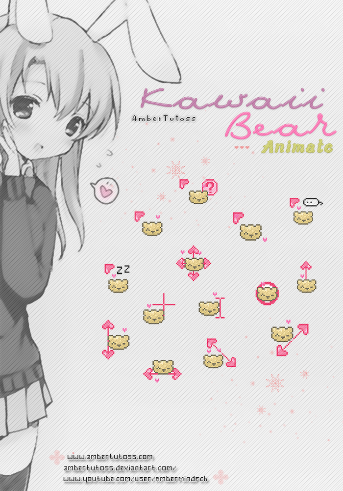 Kawaii Bear by Waatt