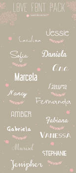 Lovely Fonts Pack