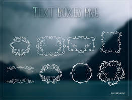 Text Boxes Png by Waatt