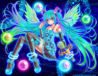 HATSUNE MIKU- In the world of light by Crizthal