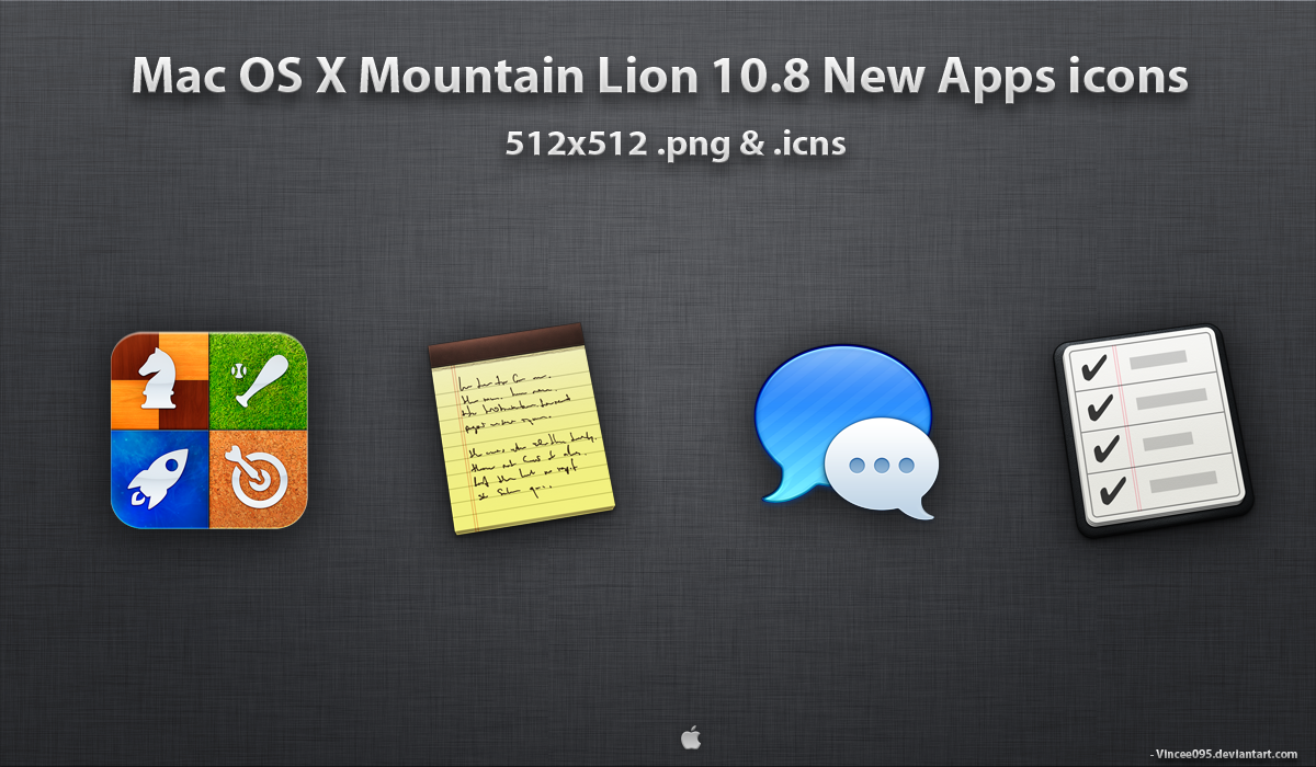 Mountain Lion New Apps icons by Vincee095