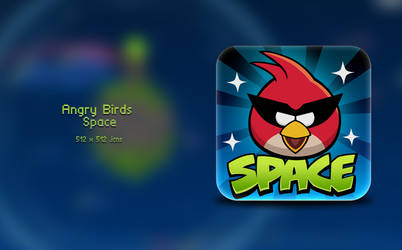 Angry Birds Space icon by Vincee095