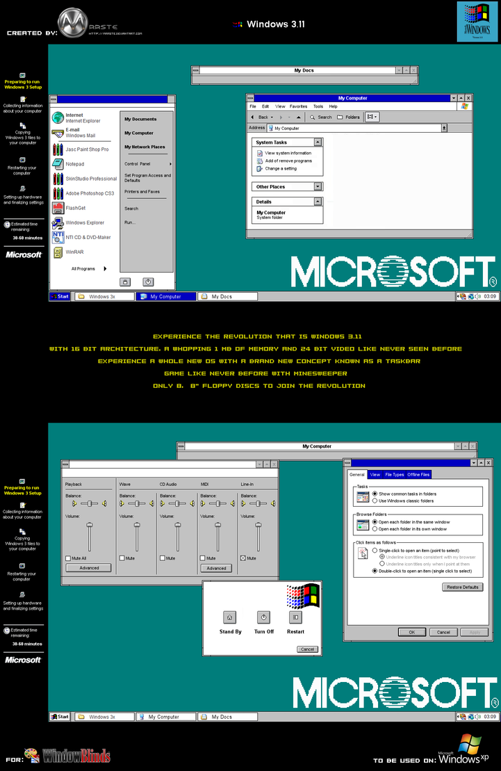 Windows 3.11 XP by mrrste