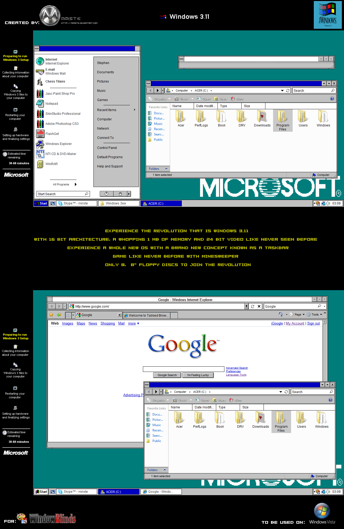 Windows 3.11 Vista by mrrste