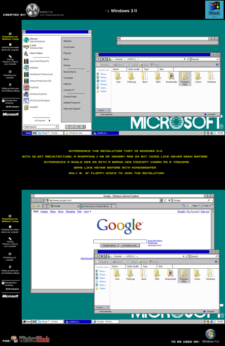 Windows 3.11 Vista