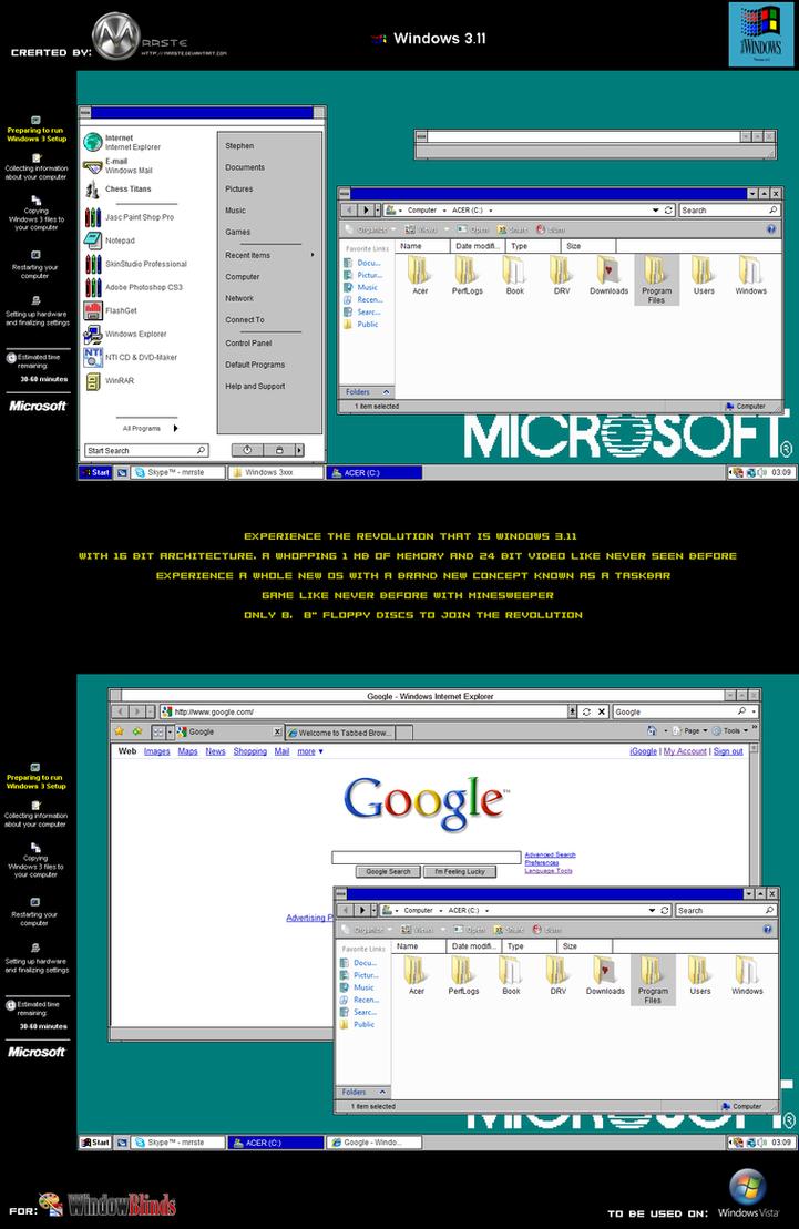 Windows 3.11 Vista