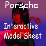 Porscha model sheet V 2 by DemonRoyal
