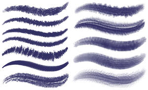 PS brushes set 3 - dark textured brushes
