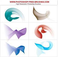 Photoshop flowing curve brush by VELAVAN
