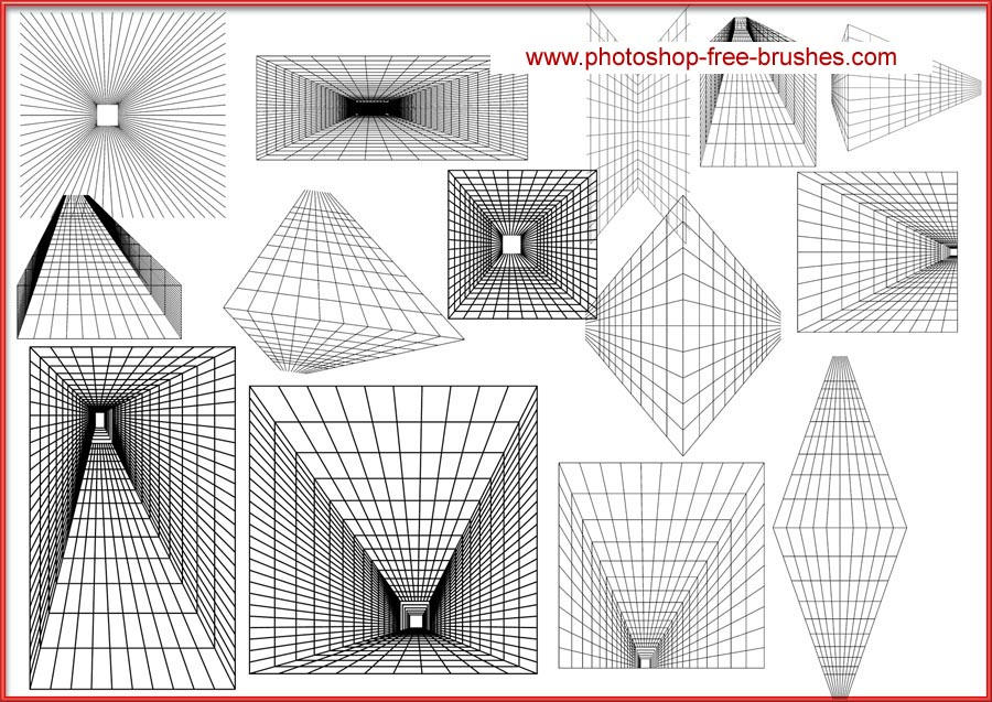 PERSPECTIVE GRID BRUSH by VELAVAN