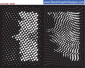 HALFTONE HEART BRUSH