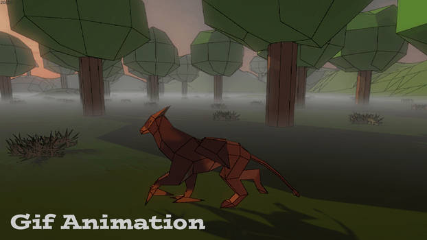 3D Griffin Walk Animation