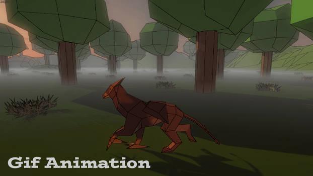 3D Griffin Walk Animation