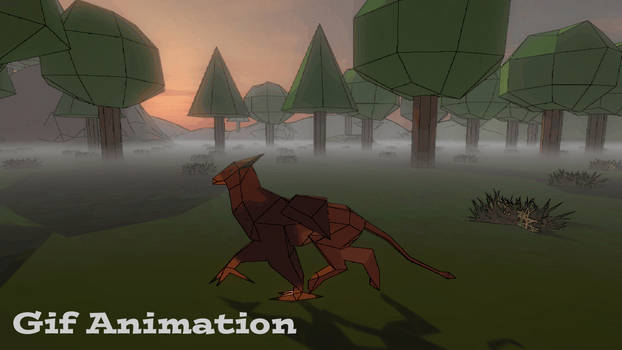 3D Griffin Trot Animation